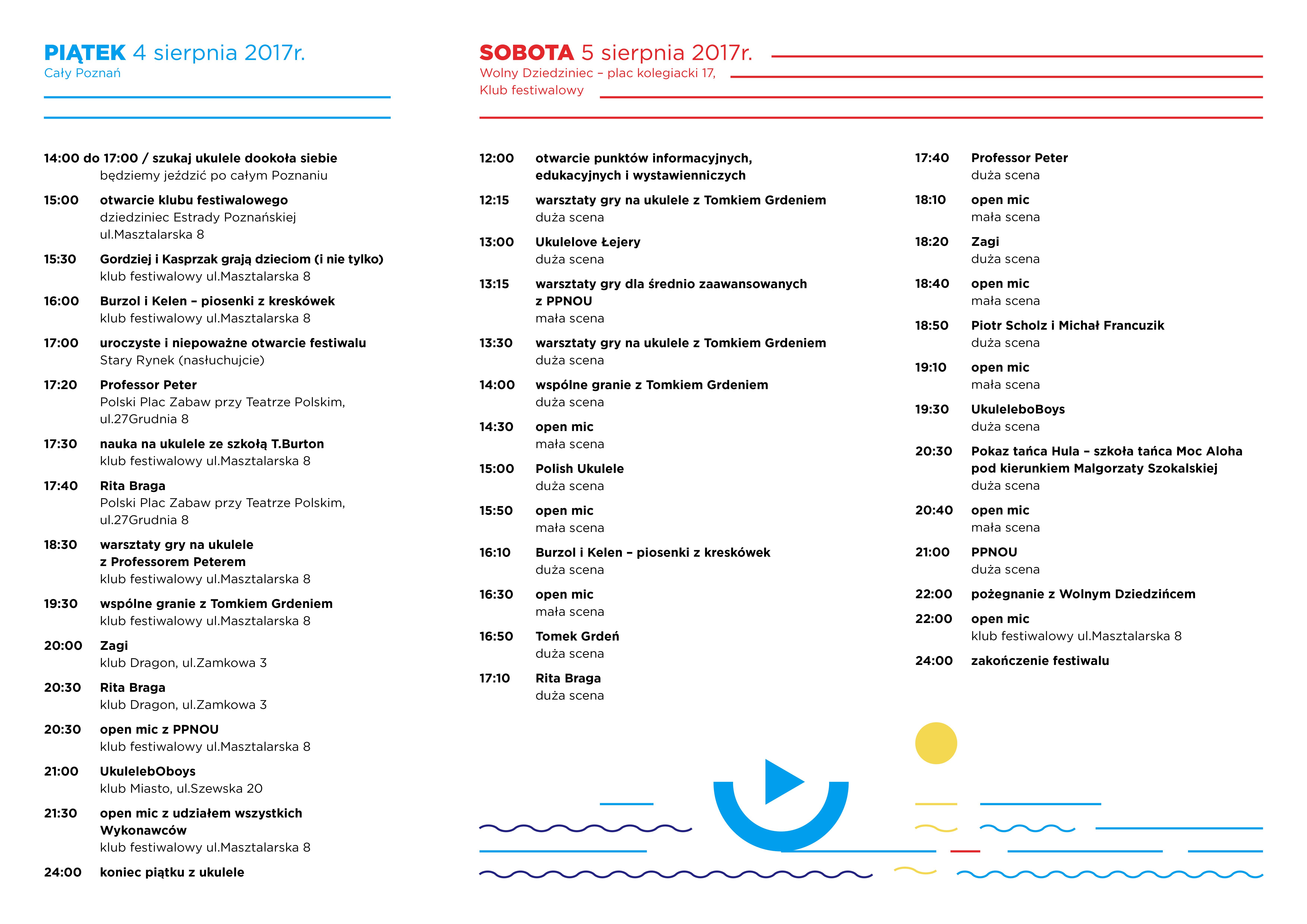 Cały Poznań Ukulele - Program Festiwalu